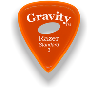 Load image into Gallery viewer, Razer Standard 3.0mm Orange Elipse Grip Guitar Pick