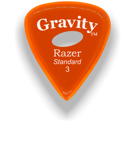Razer Standard 3.0mm Orange Elipse Grip Guitar Pick
