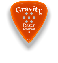 Load image into Gallery viewer, Razer Standard 3.0mm Orange Multi-Hole Grip Guitar Pick