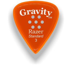 Razer Standard 3.0mm Orange Multi-Hole Grip Guitar Pick