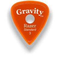 Load image into Gallery viewer, Razer Standard 3.0mm Orange Single Round Grip Guitar Pick
