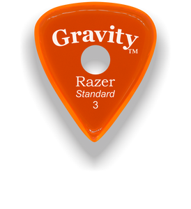 Razer Standard 3.0mm Orange Single Round Grip Guitar Pick