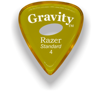 Load image into Gallery viewer, Razer Standard 4.0mm Yellow Elipse Grip Guitar Pick
