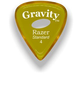Razer Standard 4.0mm Yellow Elipse Grip Guitar Pick