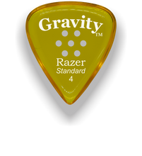 Load image into Gallery viewer, Razer Standard 4.0mm Yellow Multi-Hole Grip Guitar Pick