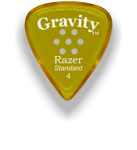 Razer Standard 4.0mm Yellow Multi-Hole Grip Guitar Pick