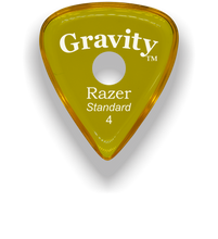 Load image into Gallery viewer, Razer Standard 4.0mm Yellow Single Round Grip Guitar Pick