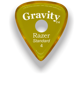 Razer Standard 4.0mm Yellow Single Round Grip Guitar Pick