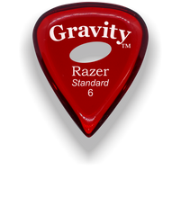 Load image into Gallery viewer, Razer Standard 6.0mm Red Elipse Grip Guitar Pick