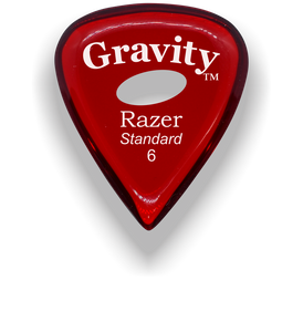Razer Standard 6.0mm Red Elipse Grip Guitar Pick