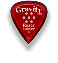 Load image into Gallery viewer, Razer Standard 6.0mm Red Multi-Hole Grip Guitar Pick