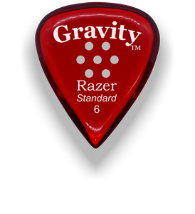 Razer Standard 6.0mm Red Multi-Hole Grip Guitar Pick