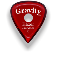 Load image into Gallery viewer, Razer Standard 6.0mm Red Single Round Grip Guitar Pick