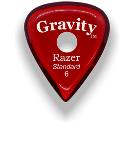 Razer Standard 6.0mm Red Single Round Grip Guitar Pick