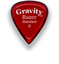 Load image into Gallery viewer, Razer Standard 6.0mm Red Guitar Pick