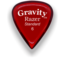 Razer Standard 6.0mm Red Guitar Pick