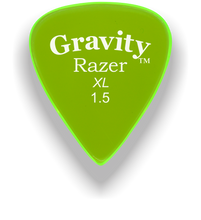 Load image into Gallery viewer, Razer XL 1.5mm Fluorescent Green Guitar Pick