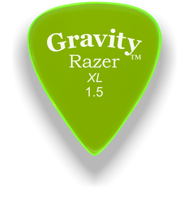 Razer XL 1.5mm Fluorescent Green Guitar Pick