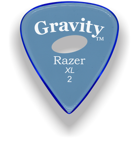 Razer XL 2.0mm Blue Elipse Grip Guitar Pick