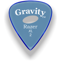 Load image into Gallery viewer, Razer XL 2.0mm Blue Elipse Grip Guitar Pick