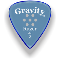 Load image into Gallery viewer, Razer XL 2.0mm Blue Multi-Hole Grip Guitar Pick