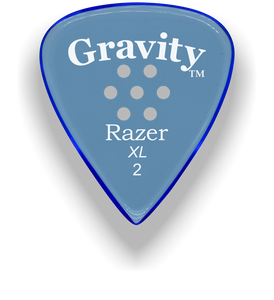 Razer XL 2.0mm Blue Multi-Hole Grip Guitar Pick