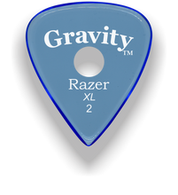 Load image into Gallery viewer, Razer XL 2.0mm Blue Single Round Grip Guitar Pick