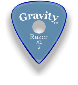 Razer XL 2.0mm Blue Single Round Grip Guitar Pick