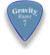 Load image into Gallery viewer, Razer XL 2.0mm Blue Guitar Pick