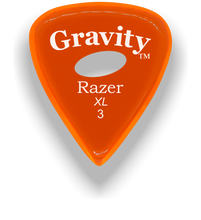 Load image into Gallery viewer, Razer XL 3.0mm Orange Elipse Grip Guitar Pick