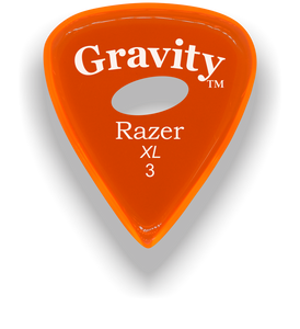 Razer XL 3.0mm Orange Elipse Grip Guitar Pick