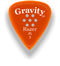 Load image into Gallery viewer, Razer XL 3.0mm Orange Multi-Hole Grip Guitar Pick
