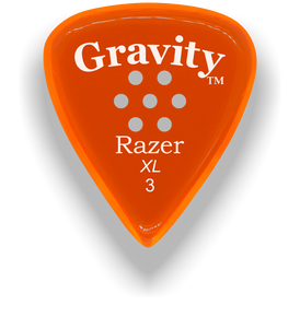 Razer XL 3.0mm Orange Multi-Hole Grip Guitar Pick