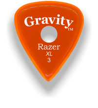 Load image into Gallery viewer, Razer XL 3.0mm Orange Single Round Grip Guitar Pick