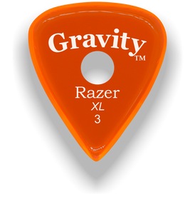 Razer XL 3.0mm Orange Single Round Grip Guitar Pick