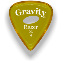 Load image into Gallery viewer, Razer XL 4.0mm Yellow Elipse Grip Guitar Pick