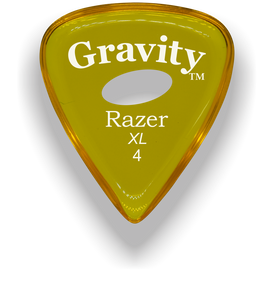 Razer XL 4.0mm Yellow Elipse Grip Guitar Pick