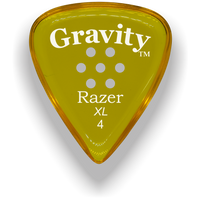 Load image into Gallery viewer, Razer XL 4.0mm Yellow Multi-Hole Grip Guitar Pick
