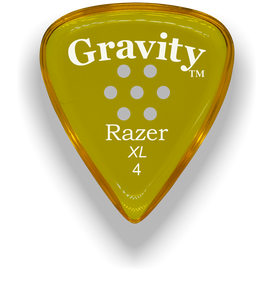 Razer XL 4.0mm Yellow Multi-Hole Grip Guitar Pick