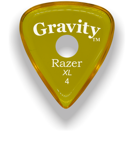 Razer XL 4.0mm Yellow Single Round Grip Guitar Pick