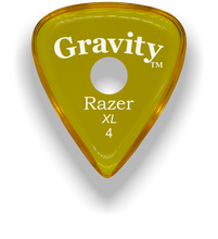 Load image into Gallery viewer, Razer XL 4.0mm Yellow Single Round Grip Guitar Pick