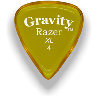 Load image into Gallery viewer, Razer XL 4.0mm Yellow Guitar Pick