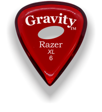 Load image into Gallery viewer, Razer XL 6.0mm Red Elipse Grip Guitar Pick
