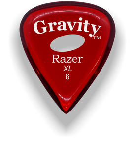 Razer XL 6.0mm Red Elipse Grip Guitar Pick