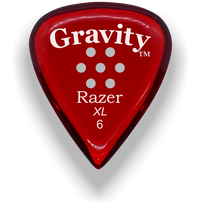 Load image into Gallery viewer, Razer XL 6.0mm Red Multi-Hole Grip Guitar Pick