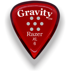 Razer XL 6.0mm Red Multi-Hole Grip Guitar Pick