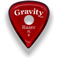 Load image into Gallery viewer, Razer XL 6.0mm Red Single Round Grip Guitar Pick