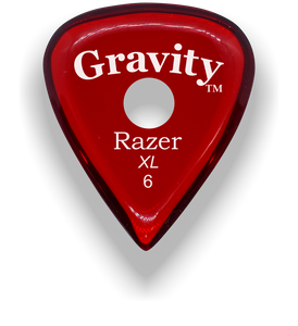 Razer XL 6.0mm Red Single Round Grip Guitar Pick