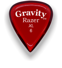 Load image into Gallery viewer, Razer XL 6.0mm Red Guitar Pick
