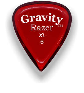 Razer XL 6.0mm Red Guitar Pick